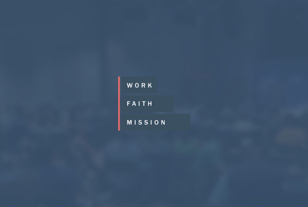 Work, Faith, Mission Network logo and background image